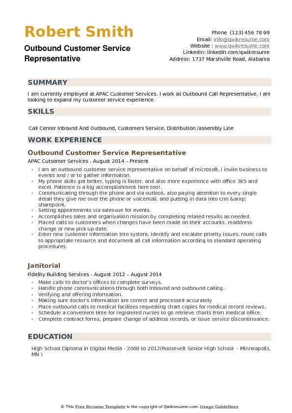 outbound customer service representative resume samples qwikresume inbound pdf model with Resume Inbound Customer Service Representative Resume