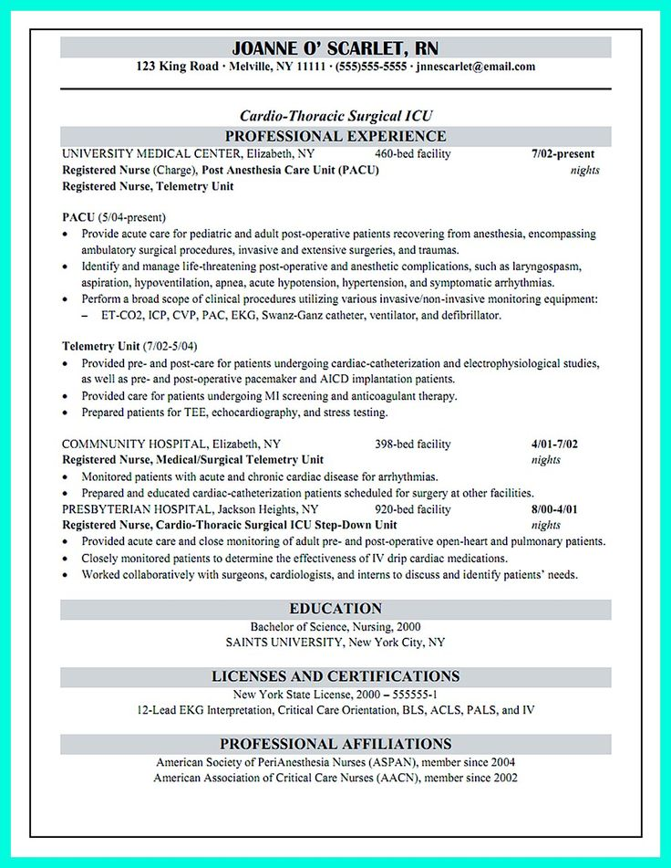 pacu charge resume rn examples professional cover letter sample for school academic Resume Pacu Rn Resume Examples