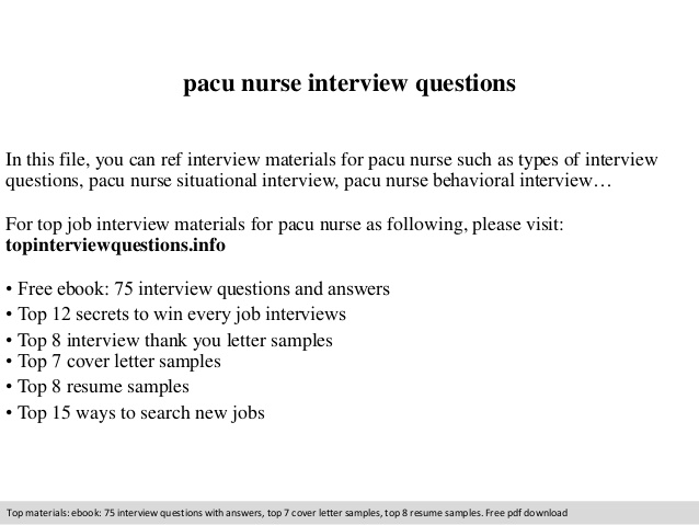 pacu nurse interview questions rn resume examples tank farm operator situation task Resume Pacu Rn Resume Examples