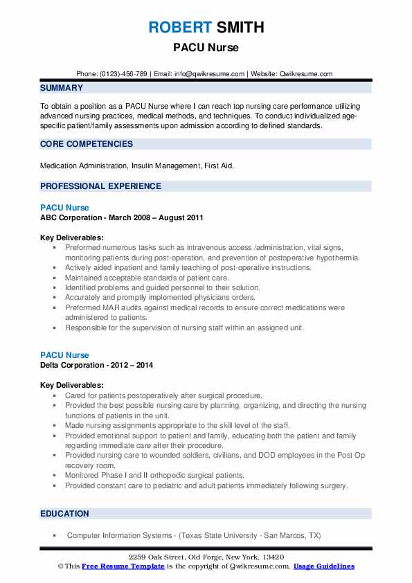 pacu nurse resume samples qwikresume rn examples pdf professional cover letter sample for Resume Pacu Rn Resume Examples
