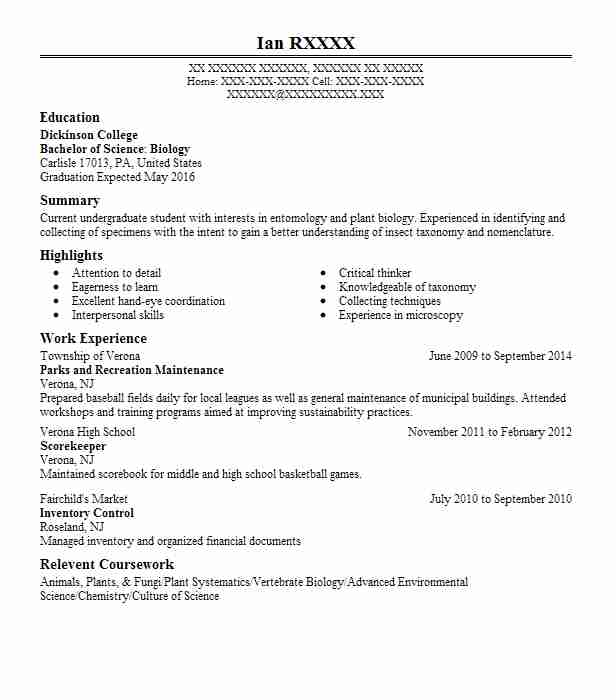 parks recreation worker resume example beach state far rockaway new extracurricular good Resume Recreation Worker Resume