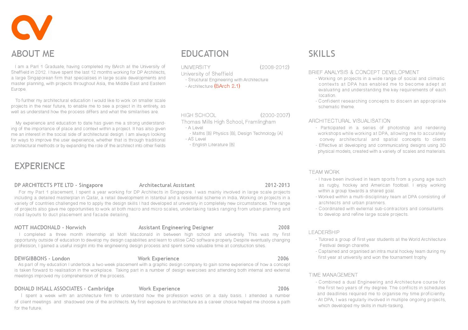 part architecture cv curriculum vitae by tomgibbons issuu firm resume need help creating Resume Architecture Firm Resume