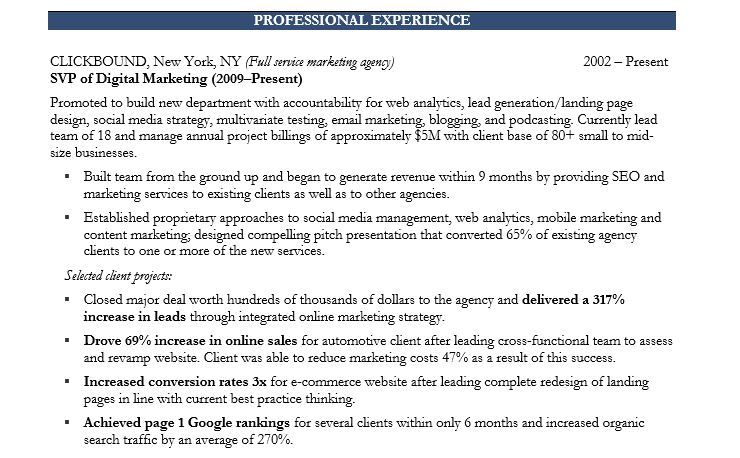 past and present tense in resume experience marketing executive professional job fair Resume Resume Past Experience Tense
