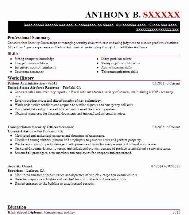 patient administration specialist resume example 1st sustainment command theater tsc Resume Patient Administration Specialist Resume