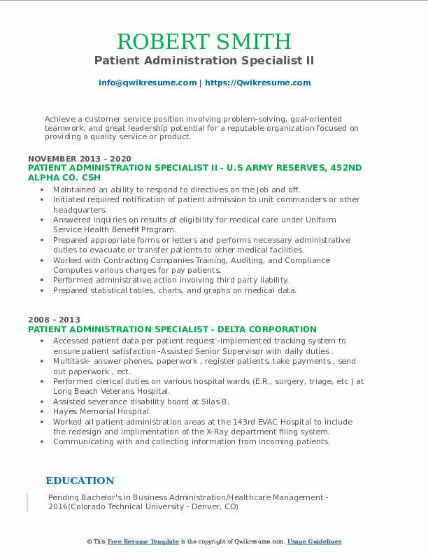 patient administration specialist resume samples qwikresume pdf additional skills sample Resume Patient Administration Specialist Resume