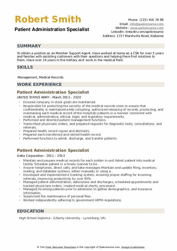 patient administration specialist resume samples qwikresume pdf clipart images cpa Resume Patient Administration Specialist Resume