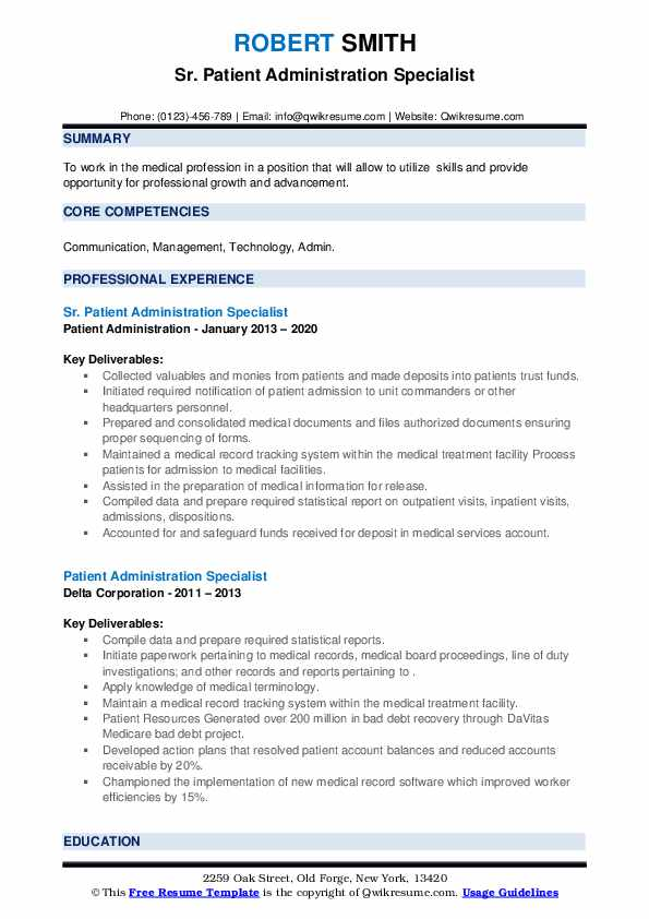 patient administration specialist resume samples qwikresume pdf kids acting can you Resume Patient Administration Specialist Resume