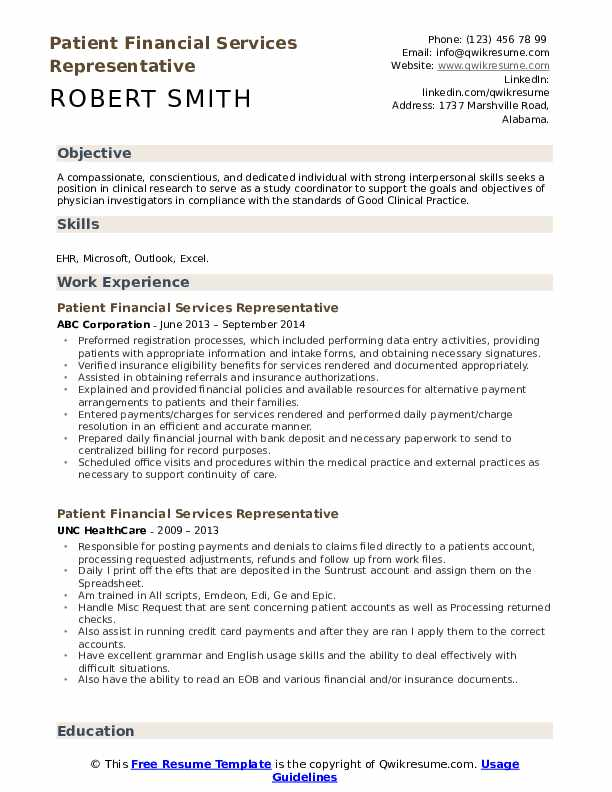 patient financial services representative resume samples qwikresume pdf small business Resume Financial Services Resume