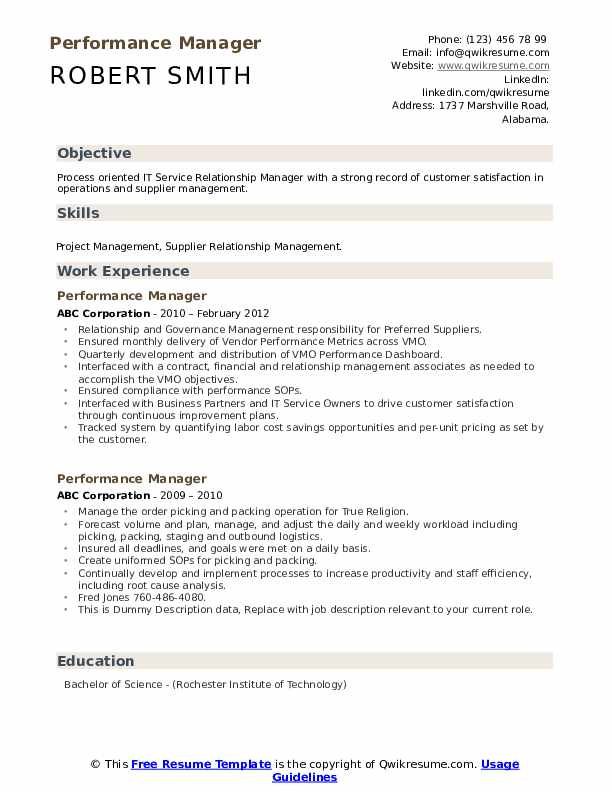 performance manager resume samples qwikresume examples pdf builder for college students Resume Performance Resume Examples