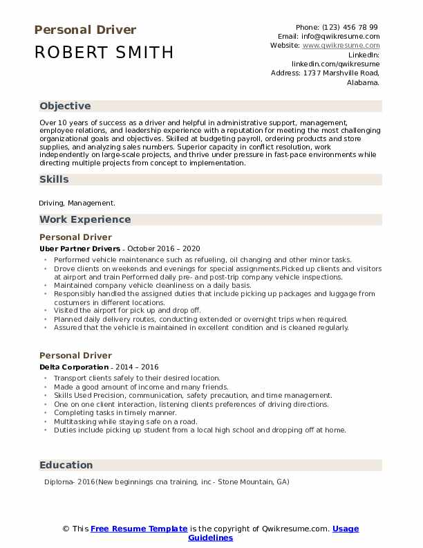 personal driver resume samples qwikresume skills for pdf contract specialist cover letter Resume Personal Driver Skills For Resume