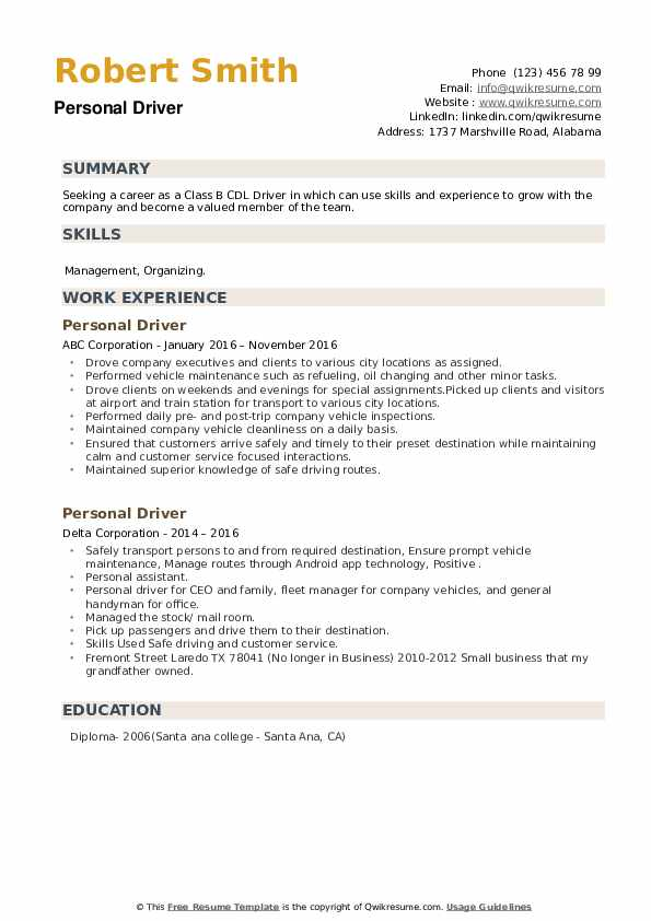 personal driver resume samples qwikresume skills for pdf data analyst sample contract Resume Personal Driver Skills For Resume
