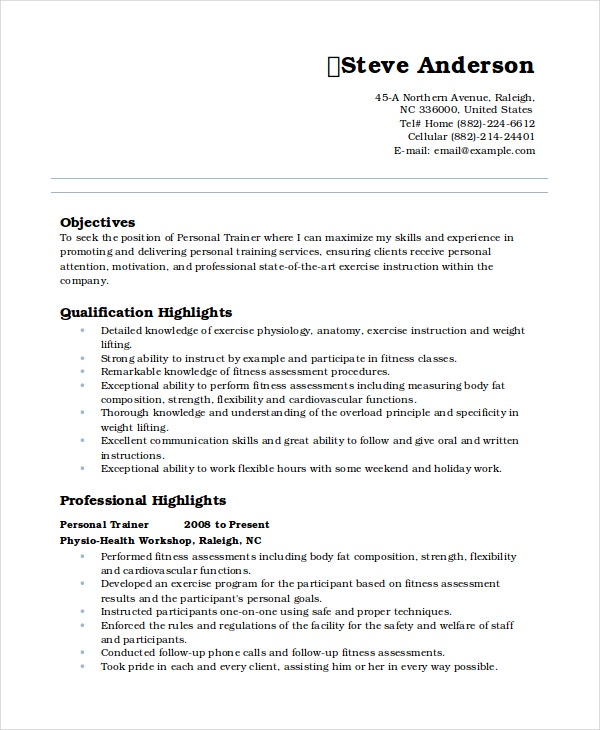 personal resume template free word pdf document premium templates experience trainer Resume Resume Personal Experience