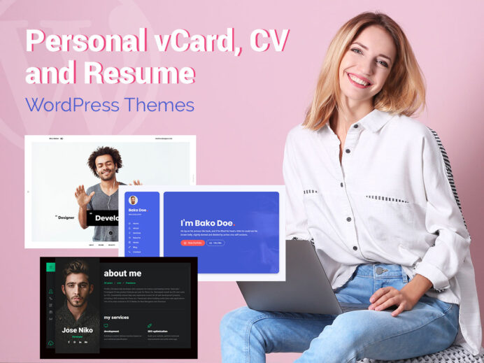 personal vcard cv and resume wordpress themes wp daddy profiler theme for creative Resume Profiler Vcard Resume Wordpress Theme