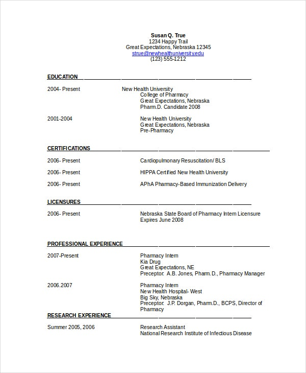 pharmacist resume template free word pdf document downloads premium templates example Resume Pharmacist Resume Example