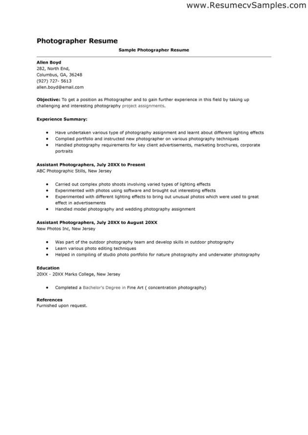 photography cover letter job professional reference resume objective examples submit on Resume Photography Resume Objective Examples