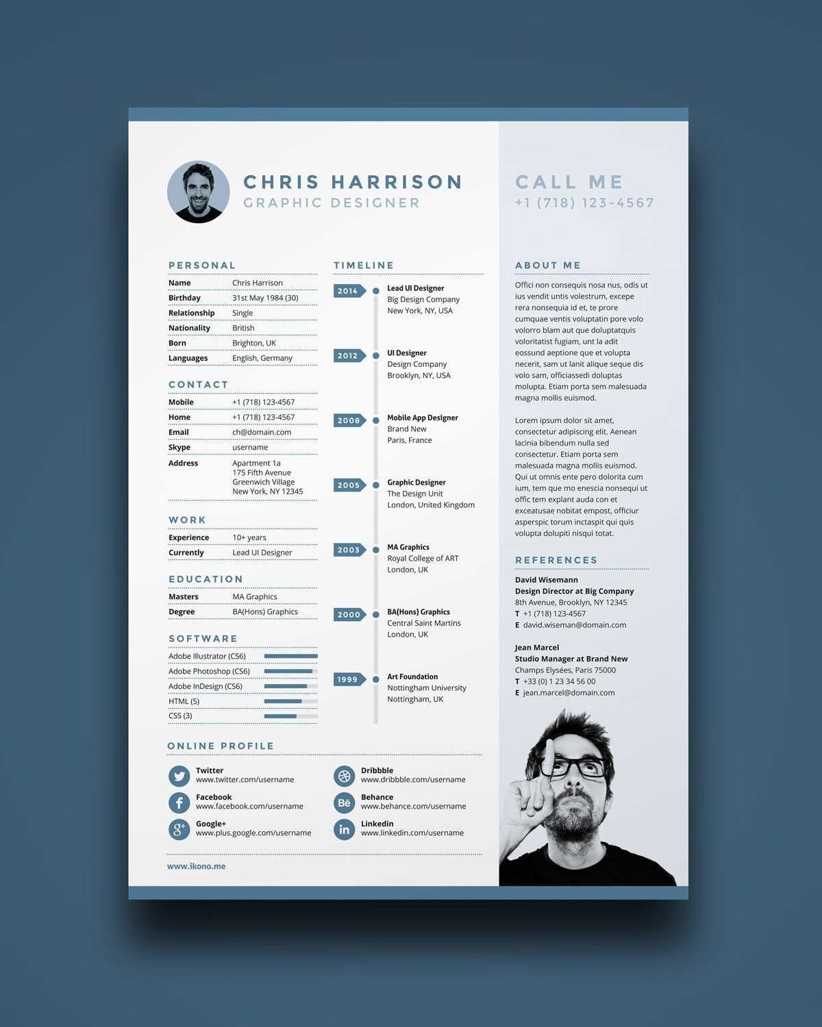 photoshop illustrator indesign resume templates objective for yahoo answers examples call Resume Illustrator Resume Templates