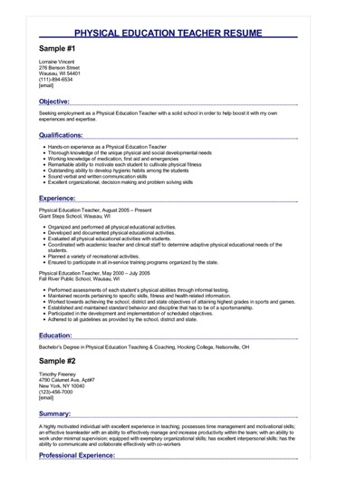 physical education teacher resume great sample image junior business analyst label Resume Physical Education Resume