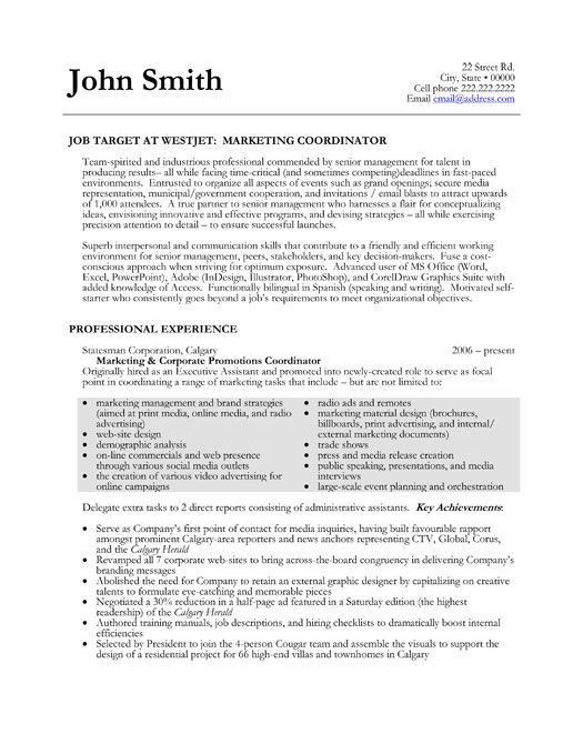 pin by johzanne on resume jobs marketing sample templates coordinator chapter president Resume Marketing Coordinator Resume