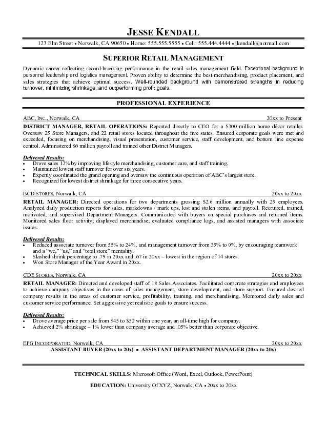 pin by santie on resume and interview help retail examples template objective manager Resume Resume Objective Retail Manager