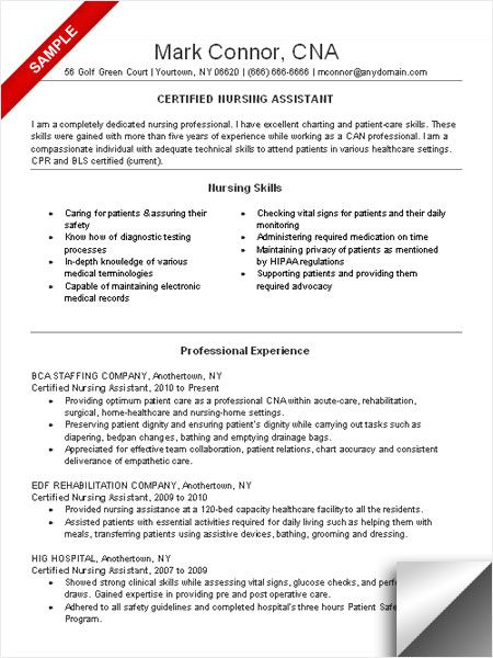 pin on birthday certified nursing assistant resume example best word font for character Resume Certified Nursing Assistant Resume Example