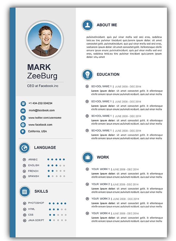 pin on cv template resume word gratis daycare teacher assistant if never had job for Resume Download Template Resume Word Gratis