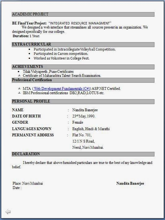 pin on jamsheer free resume format for freshers with photo entry level accounting best Resume Free Download Resume Format For Freshers With Photo
