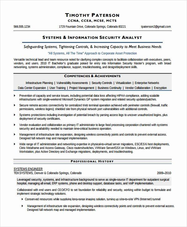 pin on job resume sample information security analyst chronological example operating Resume Information Security Analyst Sample Resume