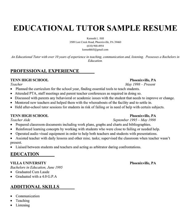 pin on resume samples across all industries another word for tutor well test operator Resume Another Word For Tutor On Resume