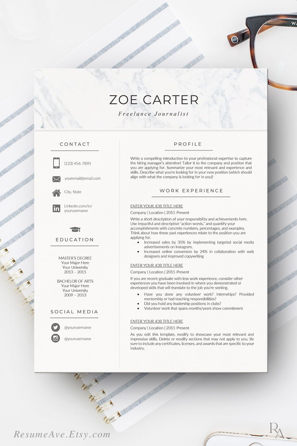 pin on resume templates the step modern builder using linkedin quantifying examples Resume The 24 Step Modern Resume