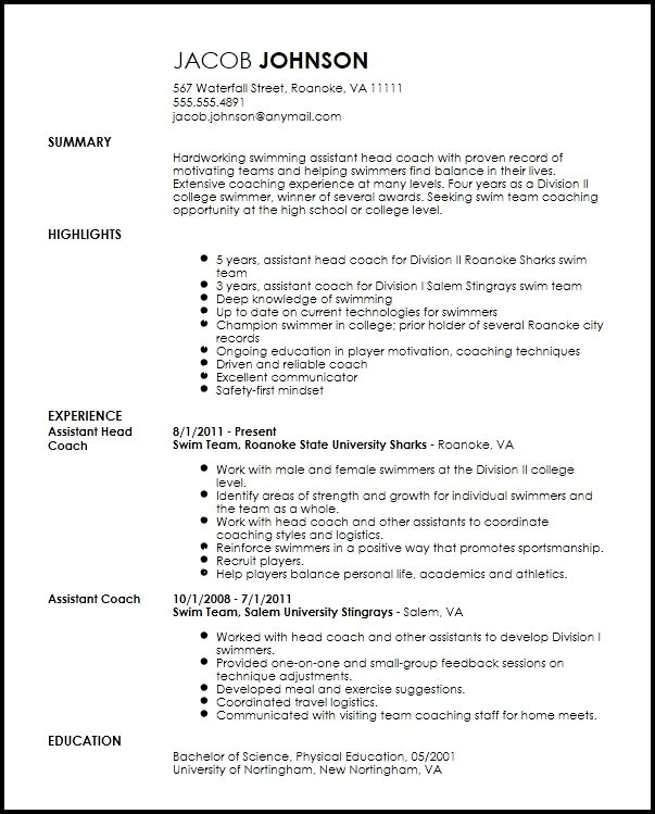 pin on sports coach high school resume template grammarly writing small business sample Resume High School Sports Resume Template