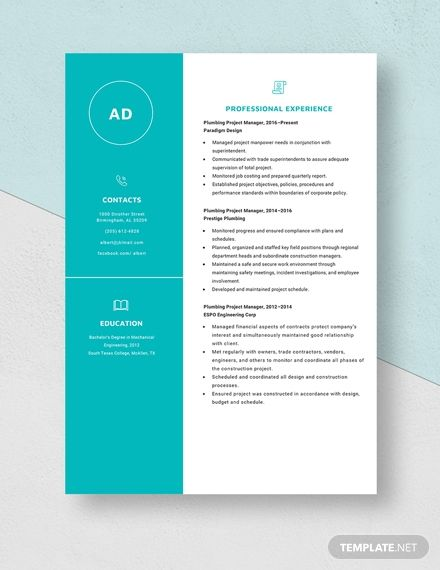plumbing project manager resume template in hybris architect senior production engineer Resume Plumbing Project Manager Resume