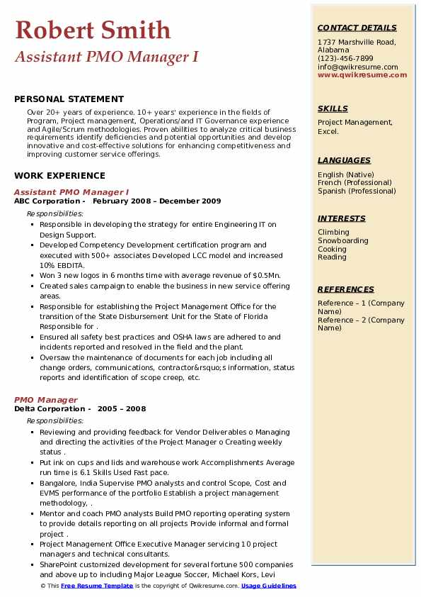 pmo manager resume samples qwikresume project pdf business director hedge fund esl Resume Pmo Project Manager Resume