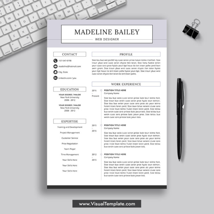 pre formatted resume template with icons fonts and editing guide unlimited digital Resume Creative Resume Examples 2021