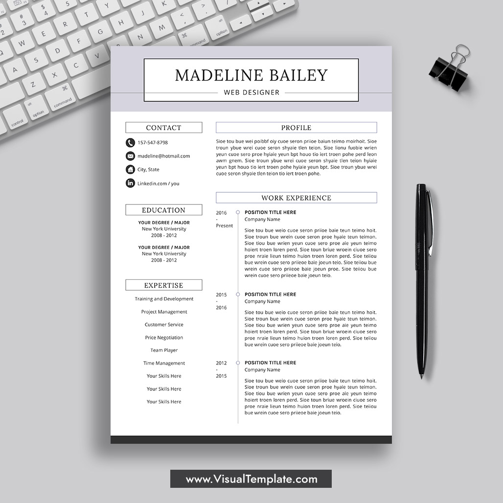 pre formatted resume template with icons fonts and editing guide unlimited digital Resume Free 2021 Resume Templates Word