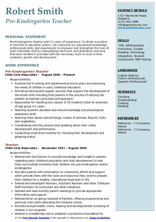 pre kindergarten teacher resume samples qwikresume objective for pdf human resources Resume Objective For Kindergarten Teacher Resume