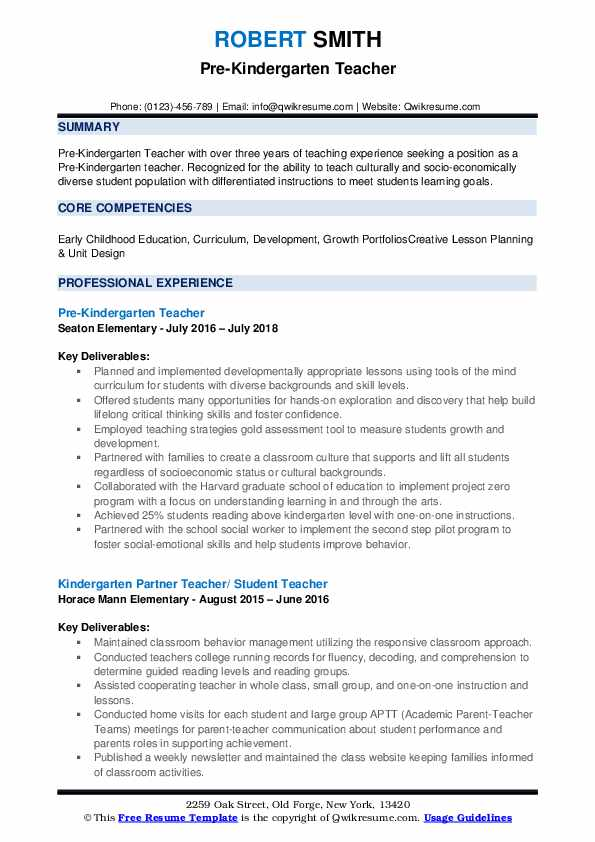 pre kindergarten teacher resume samples qwikresume objective for pdf office depot paper Resume Objective For Kindergarten Teacher Resume