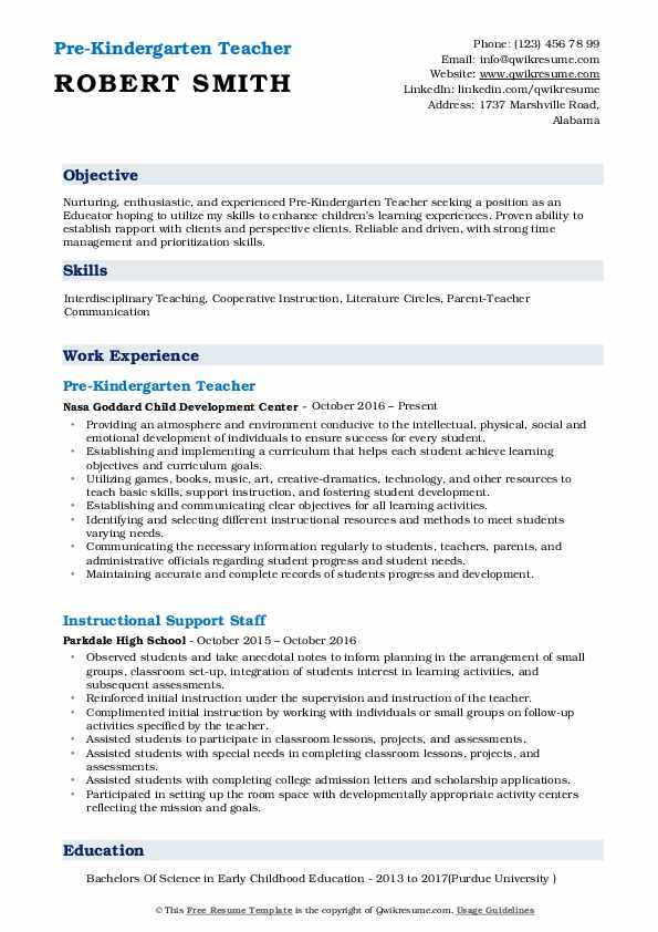 pre kindergarten teacher resume samples qwikresume objective for pdf sample sanitation Resume Objective For Kindergarten Teacher Resume