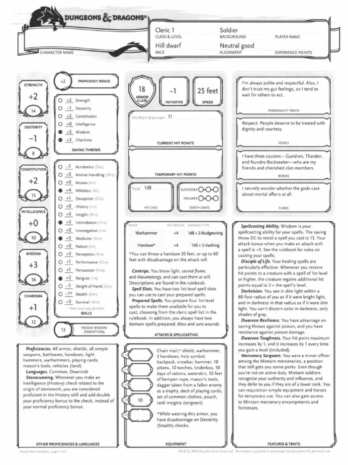 premade character sheets dungeons dragons sheet resume personal trainer format financial Resume D&d Character Sheet Resume