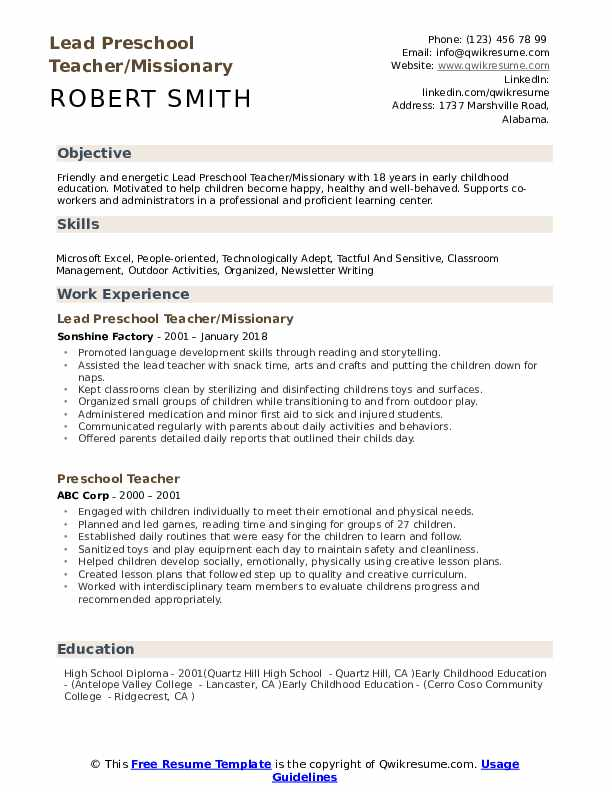 preschool teacher resume samples qwikresume objective for kindergarten pdf marketing Resume Objective For Kindergarten Teacher Resume