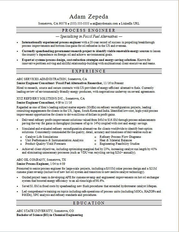 process engineer resume sample monster chemical engineering format training manager Resume Chemical Engineering Resume Format Download