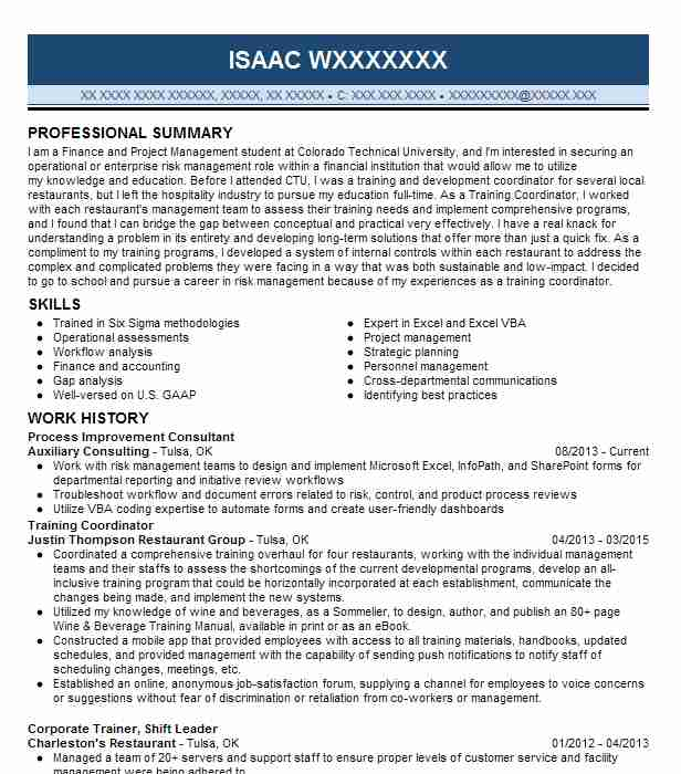 process improvement consultant resume example livecareer temp agency layout sample cna Resume Process Improvement Resume
