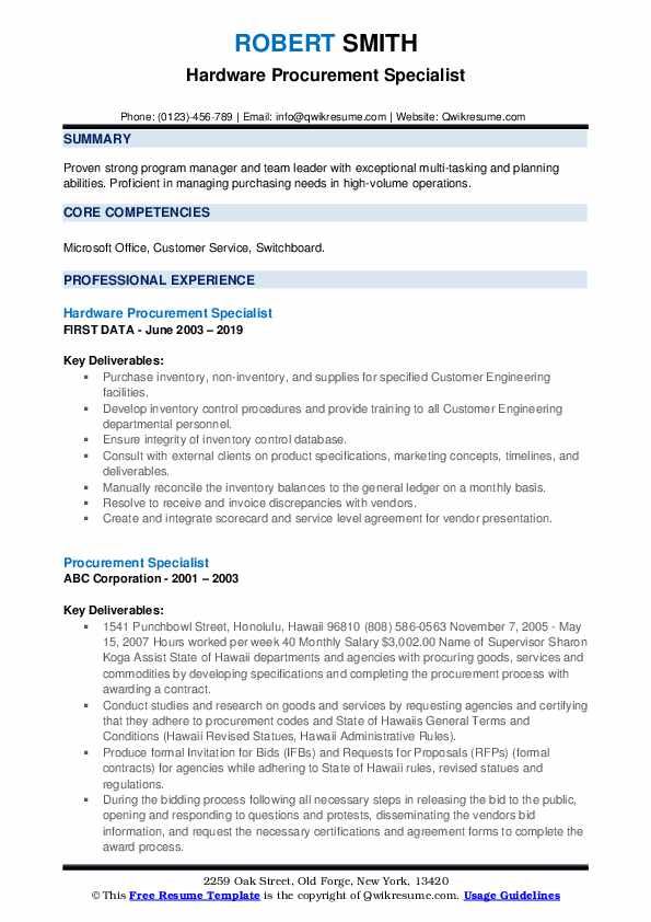procurement specialist resume samples qwikresume quotation pdf free for college students Resume Quotation Specialist Resume