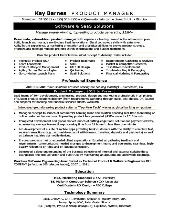 product manager resume sample monster mba marketing format productmanager new grad lpn Resume Mba Marketing Resume Format
