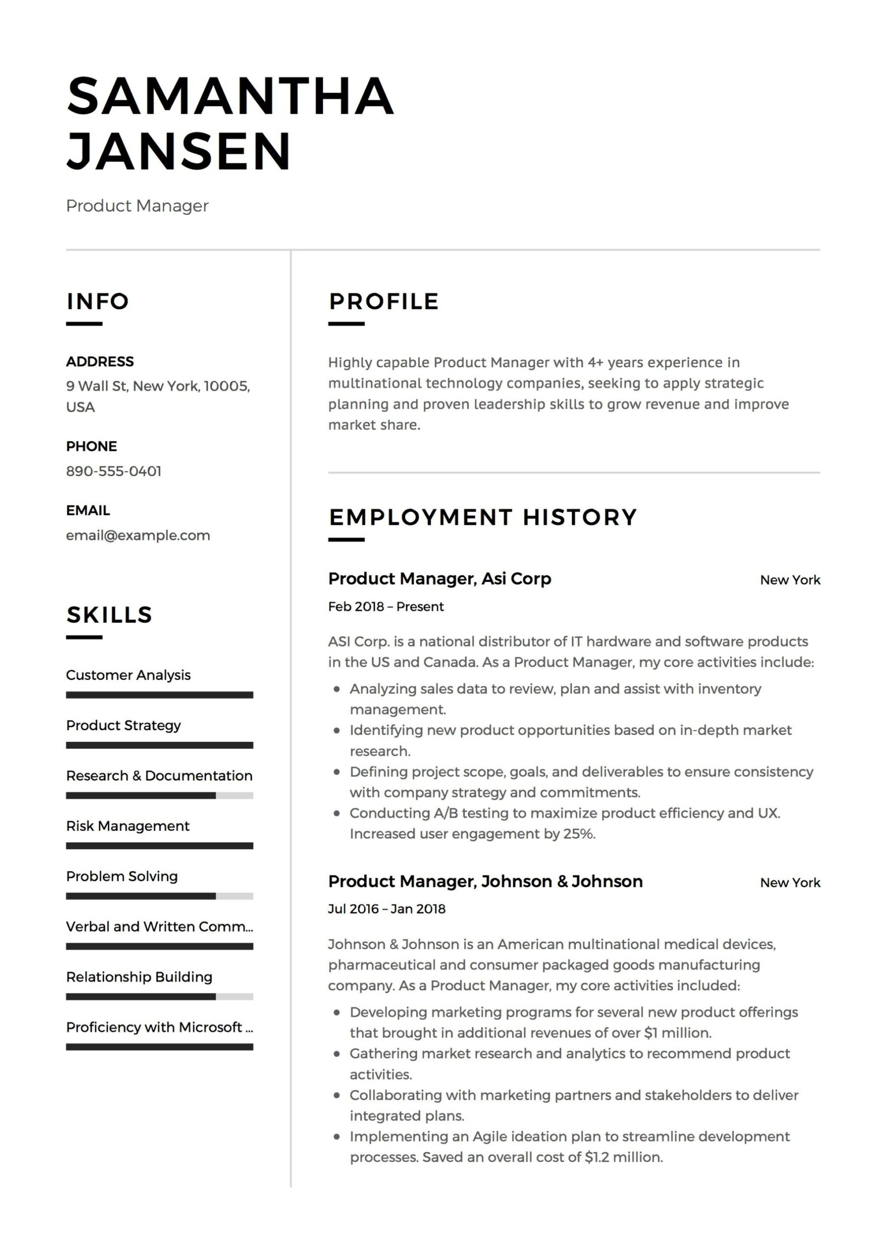 product manager resume samples free downloads examples in template student job agile call Resume Agile Product Manager Resume