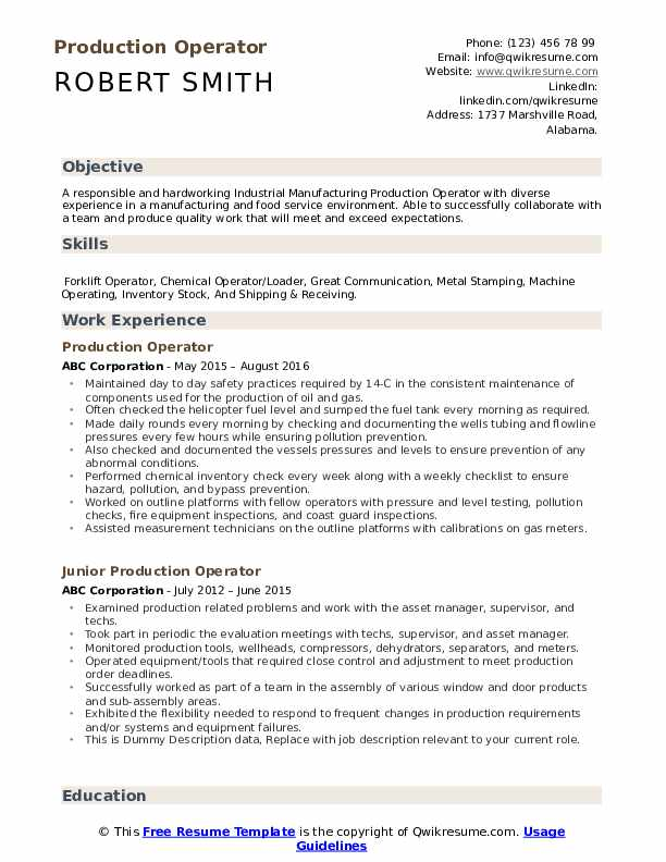 production operator resume samples qwikresume normal objective for pdf reconciliation Resume Normal Objective For Resume