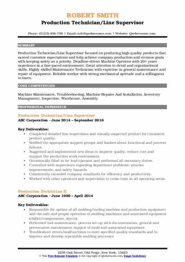 production technician resume samples qwikresume pdf occupational therapy examples Resume Production Technician Resume