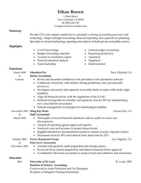 professional accountant resume examples accounting livecareer job description for finance Resume Accountant Job Description For Resume