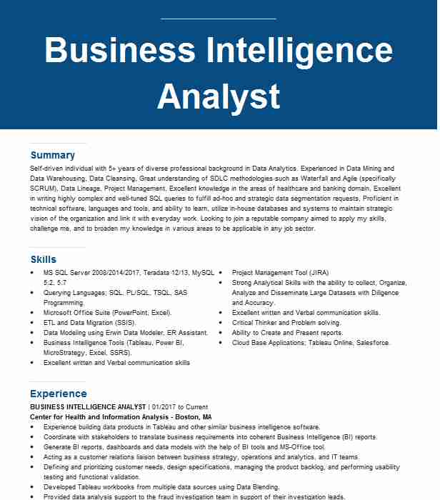 professional business intelligence analyst resume examples statistics livecareer route Resume Business Intelligence Resume