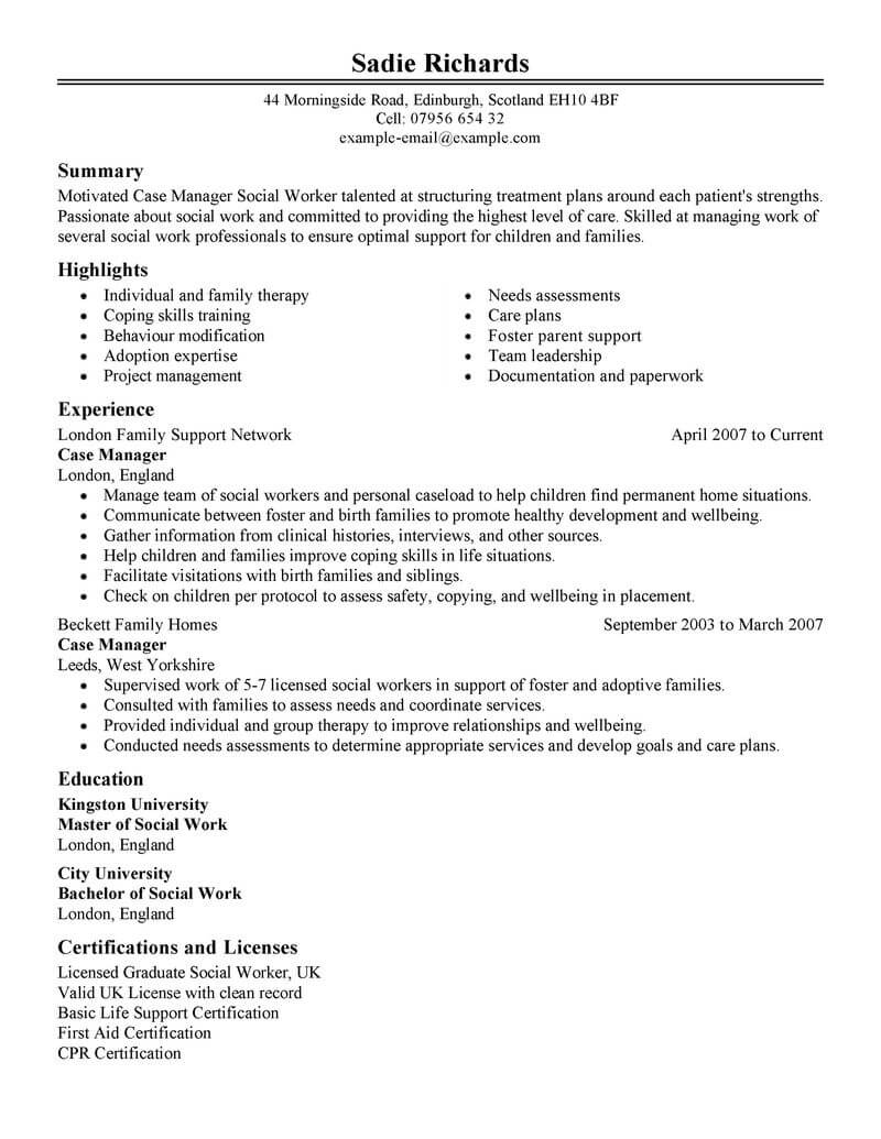 professional case manager resume examples social services livecareer nurse objective Resume Nurse Case Manager Resume Objective