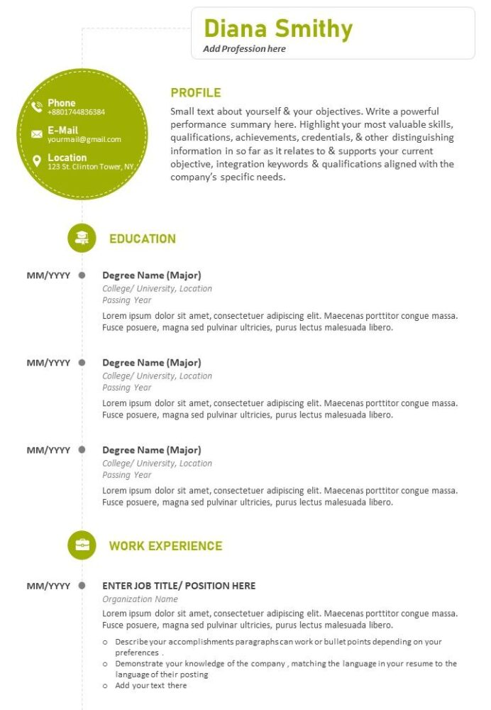 professional cv sample with previous work details powerpoint slides diagrams themes for Resume Special Accomplishments On Resume